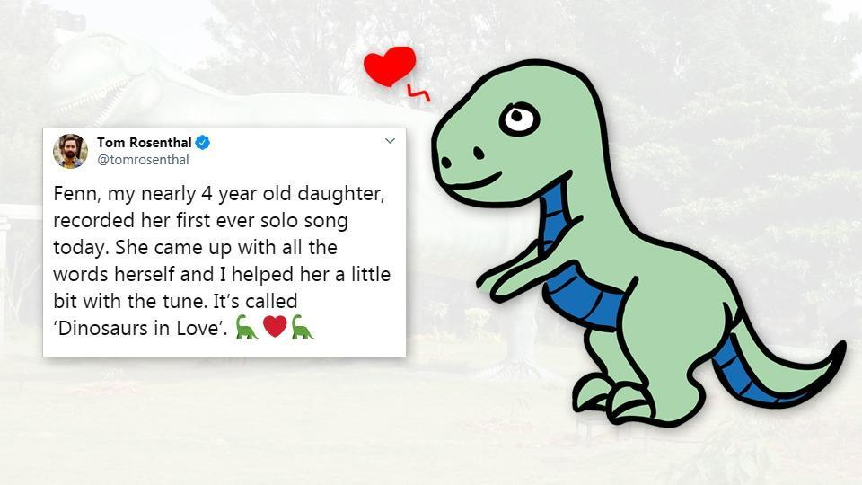 Musician Tom Rosenthal posted the track sung by his daughter, Fenn, on Twitter.