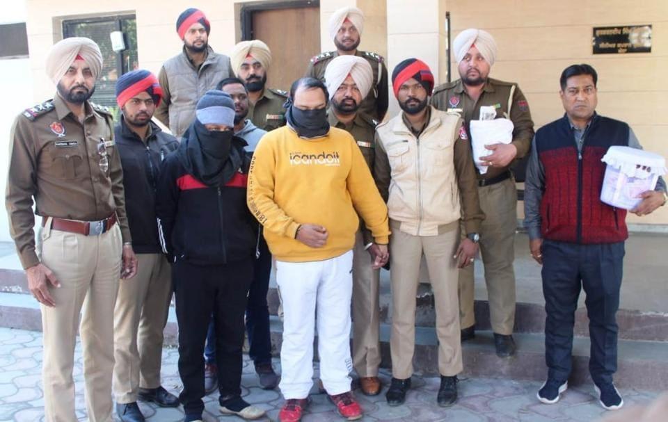 The accused in police custody in Khanna on Thursday.