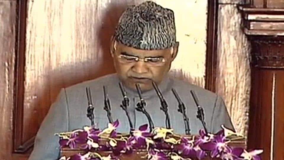 President Ram Nath Kovind addresses both Houses of Parliament on Friday.