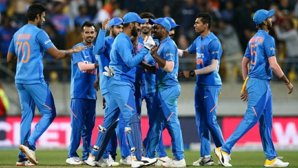 Team India celebrate during the 4th T20I.