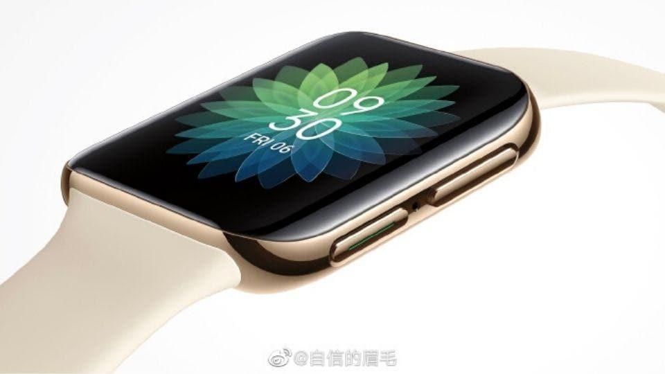 Oppo smartwatch design teased on Weibo.