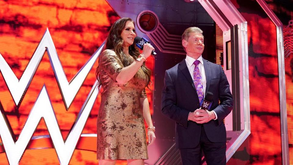 WWE Chairman Vince McMahon and daughter Stephanie.