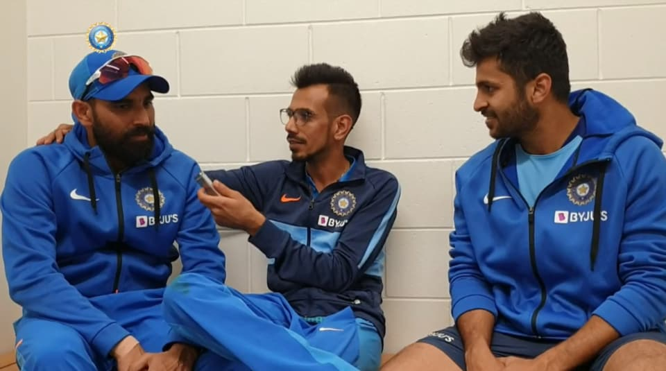 Yuzvendra Chahal interviews Mohammed Shami and Shardul Thakur.