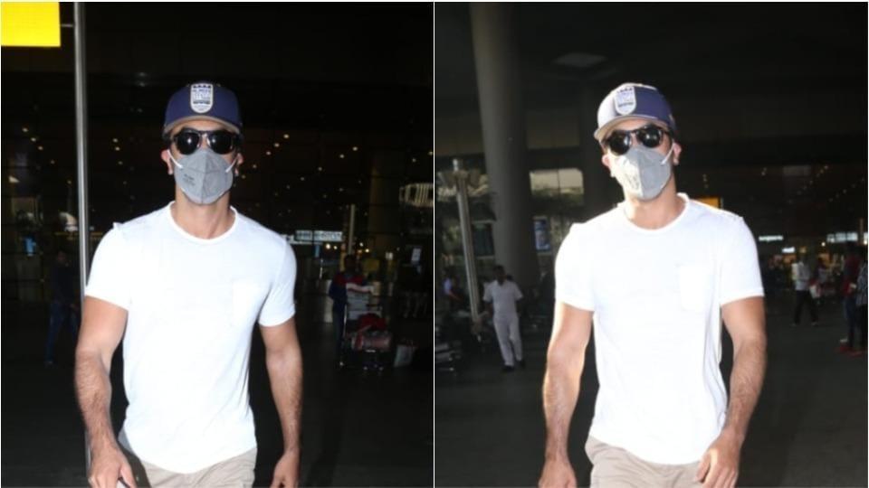 Ranbir Kapoor seen at the Mumbai airport.