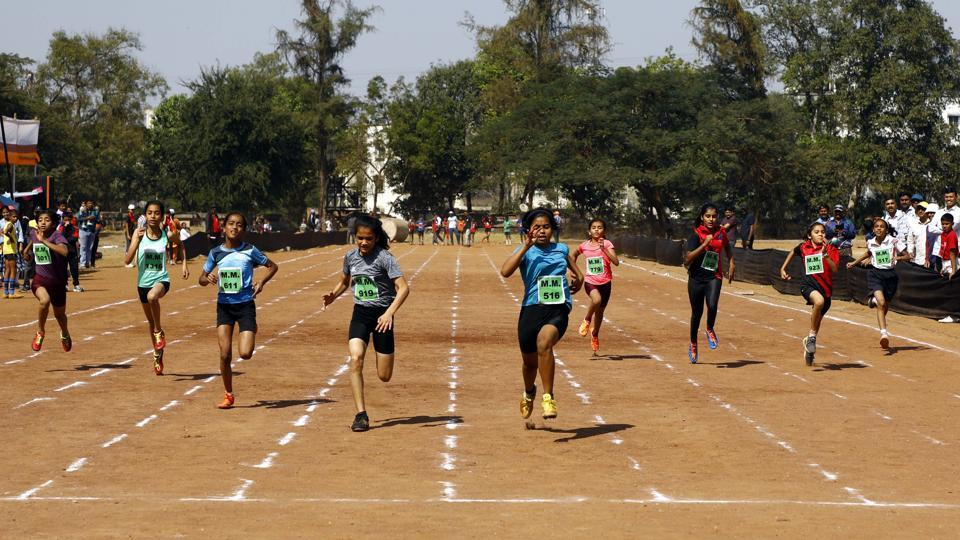Yashashree Sakpal (516), Priya Margaj (919), and Sejal Sapte (611) came in first, second and third, respectively, in the 100m for girls under 12 at the Maharashtra Mandal, Mukundnagar, on Thursday.