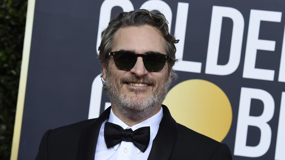 """In this Sunday, Jan. 5, 2020 file photo, Joaquin Phoenix arrives at the 77th annual Golden Globe Awards at the Beverly Hilton Hotel on in Beverly Hills, Calif. The film """"Joker"""" has topped the nominations for the British Academy film awards announced on Tuesday Jan. 7, 2020. The awards will be announced at a gala event hosted by Graham Norton on February 2."""