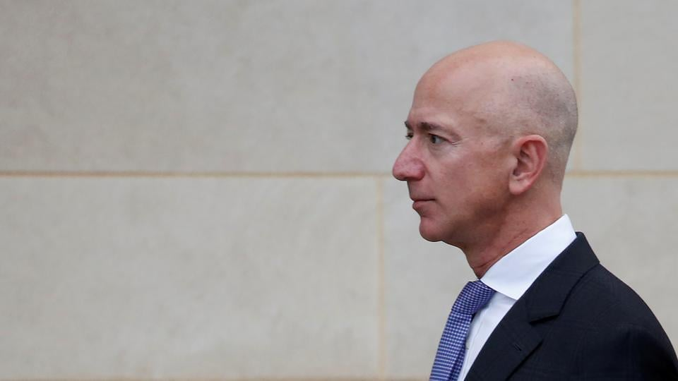 Bezos, 56, owns about 12% of Amazon's outstanding stock, making up the bulk of his fortune. His ownership of closely held Blue Origin accounts for about $6.2 billion. The late surge Thursday added more than $90 billion to Amazon's market value, pushing it above $1 trillion.