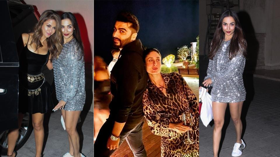 Natasha Poonawalla, Malaika Arora, Arjun Kapoor and Kareena Kapoor at Amrita Arora's birthday bash.