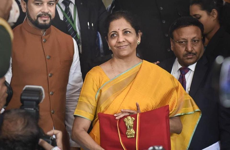 Image result for nirmala sitharaman fainted budget