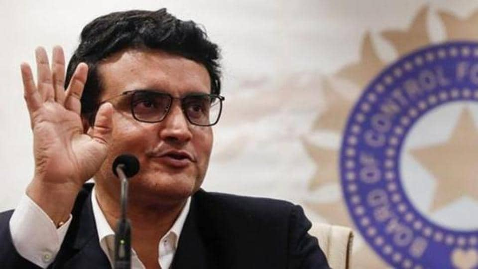 Former Indian cricketer and current BCCI (Board Of Control for Cricket in India) president Sourav Ganguly.