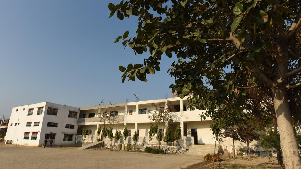 A view of the school in Jewar, near Noida, where the teenager who fired at protesters at  Jamia Nagar, studied.