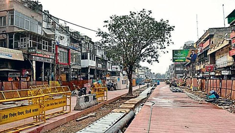 The redevelopment of Chandni Chowk was earlier scheduled to be completed by March this year.