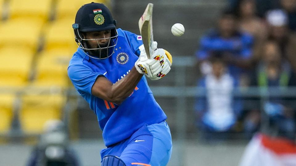 India's KL Rahul bats during a T20 international between India and New Zealand in Wellington, New Zealand.