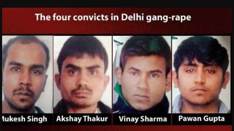 Four men convicted in the December 16 Delhi gang-rape case.