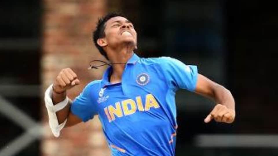 Yashasvi Jaiswal celebrates after scoring against Pakistan.