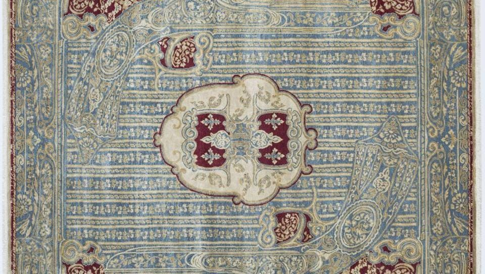 All carpet designs synergize into a holistic vision of luxury rooted in the old-world regalia of Rajasthan.