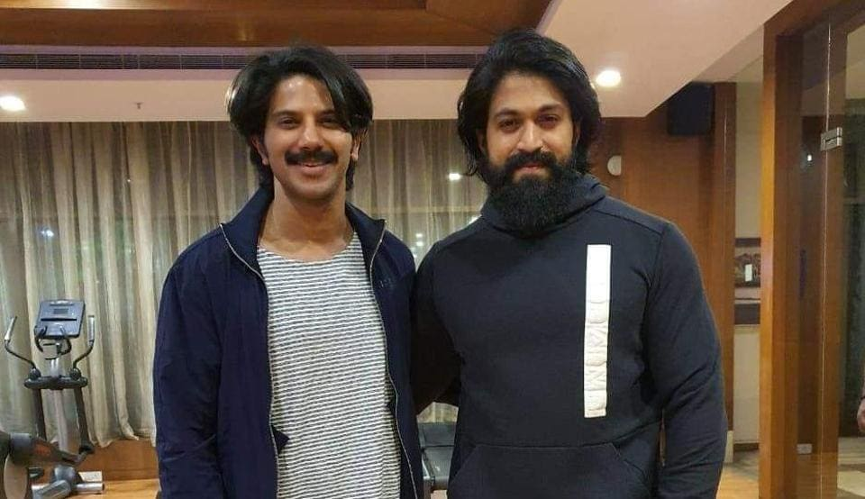 Dulquer Salmaan and Yash at the gym.