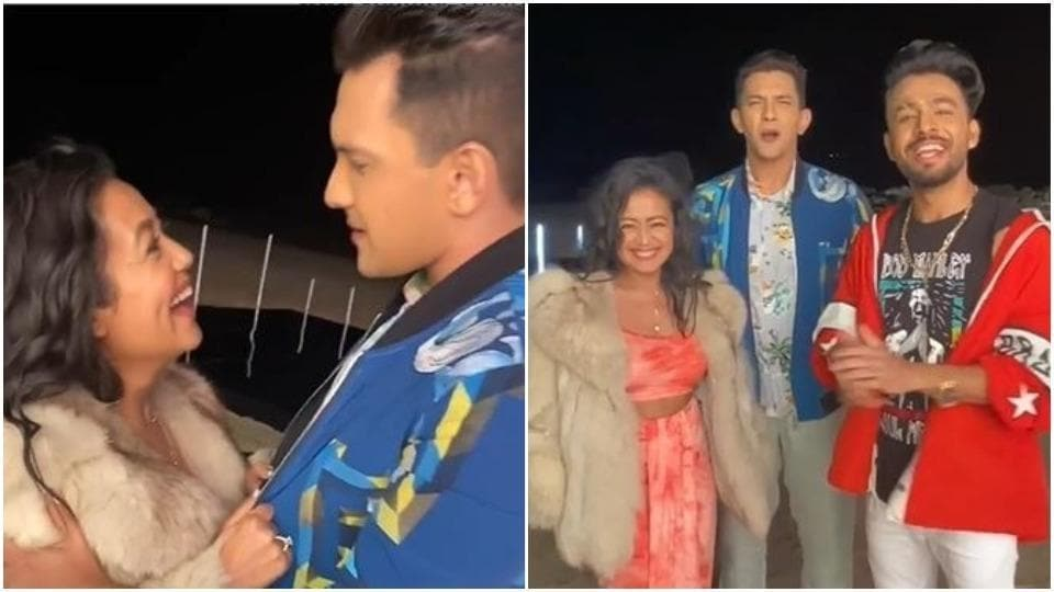 Neha Kakkar and Aditya Narayan were in Goa to shoot a music video.