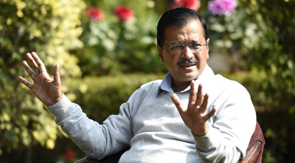 Chief Minister of Delhi Arvind Kejriwal during an interview at his residence in New Delhi, India, on Wednesday, February 5, 2020.