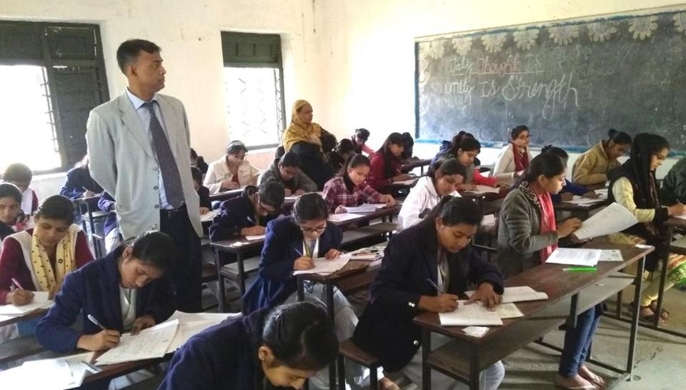 BSEB chairman Anand Kishor in one of the exam centres