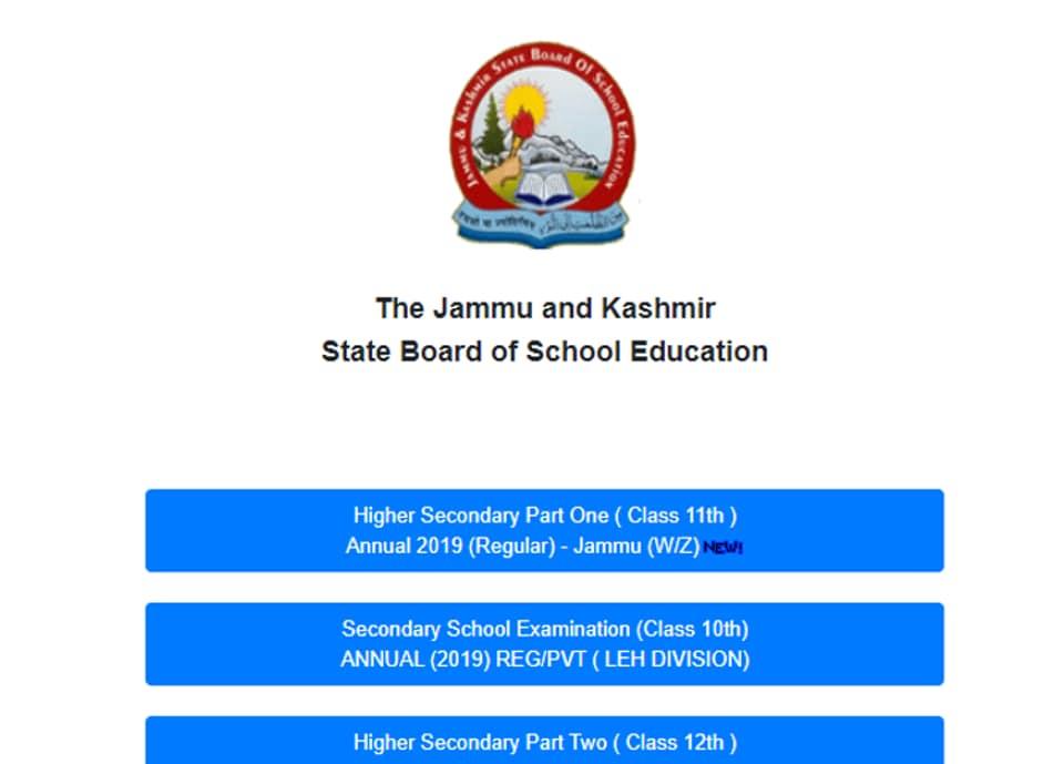 JKBOSE 11th Jammu winter zone results declared, direct link here