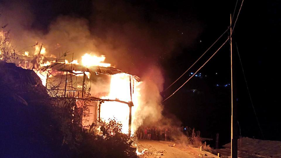 Two Bengal girls killed in a fire while sleeping at home.