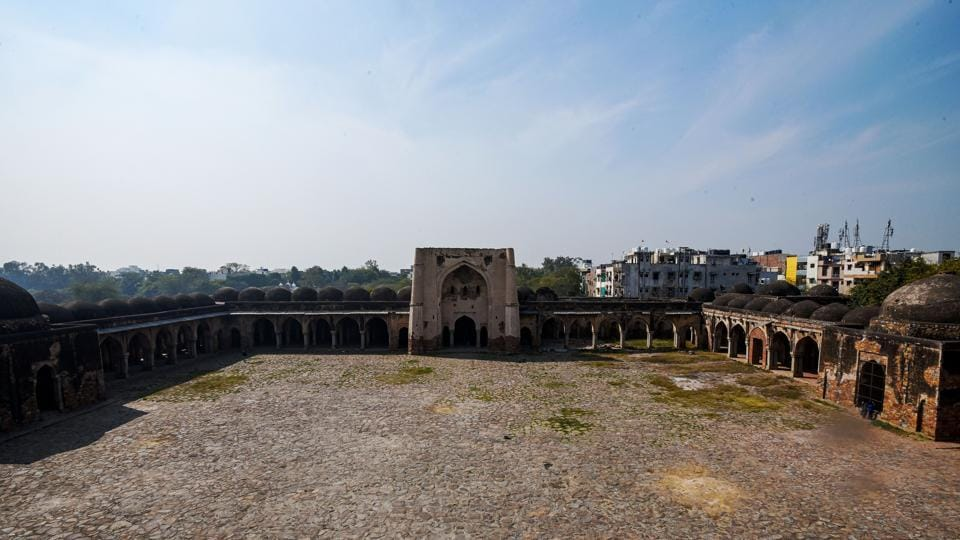 """The occupation of the Begampur mosque continued for a very long time, before the ASI forcibly removed them. That explains much of the vandalism of the monument in the next few years, as people from surrounding areas started using parts of its masonry for personal use,"" Jalil added. (Amal KS / HT Photo)"
