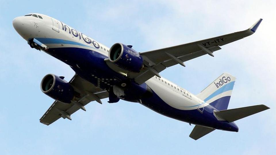 FILE PHOTO: An IndiGo Airlines Airbus A320 aircraft takes off in Colomiers near Toulouse, France, October 19, 2017. REUTERS/Regis Duvignau