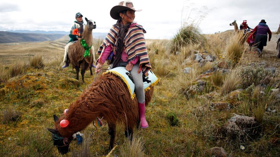 "The race known as ""Llamingada"" takes place every year in Llanganates National Park, one of the most important wetlands on the planet that covers nearly 2,200 square kilometres. The goal of the event is to raise awareness among indigenous communities about the importance of the park's care. (Daniel Tapia / REUTERS)"