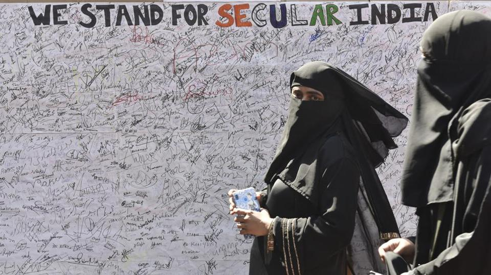 """The BJP leader said people are sporting burqas in Delhi's Shaheen Bagh protest against the new citizenship law, and added, """"The burqa helps terrorists""""."""