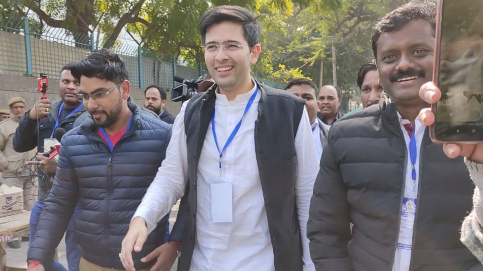 Aam Aadmi Party's (AAP's) Raghav Chadha on Tuesday won by more than 16,000 votes from the Rajendra Nagar constituency.