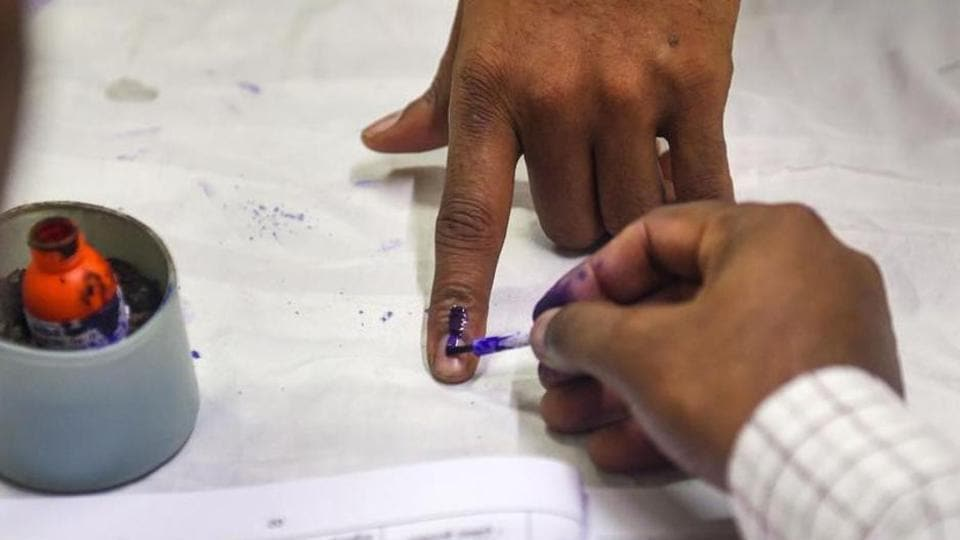 A person is casting vote (representational image).