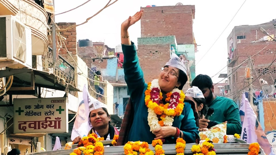 Atishi has secured a victory from Kalkaji seat in a prestigious battle with rival BJP.