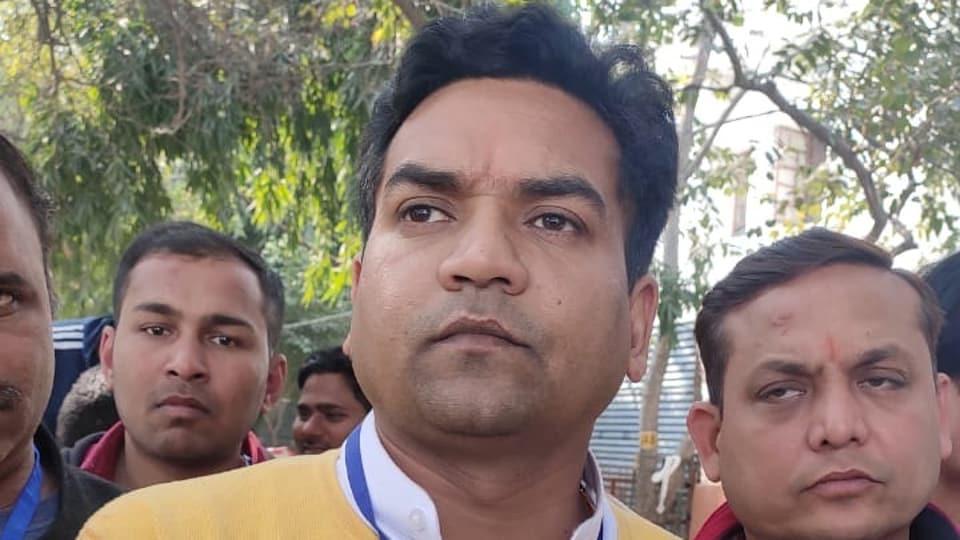 BJP's Kapil Mishra after conceding defeat to Akhilesh Pati Tripathi of the AAP.