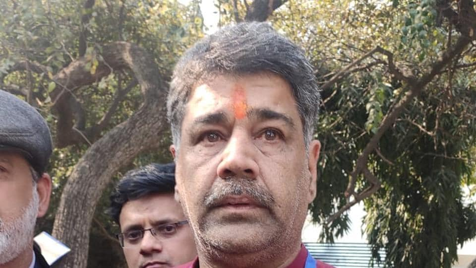 Raj Kumar Bhatia of BJPwho is contesting fromAdarshNagar seat