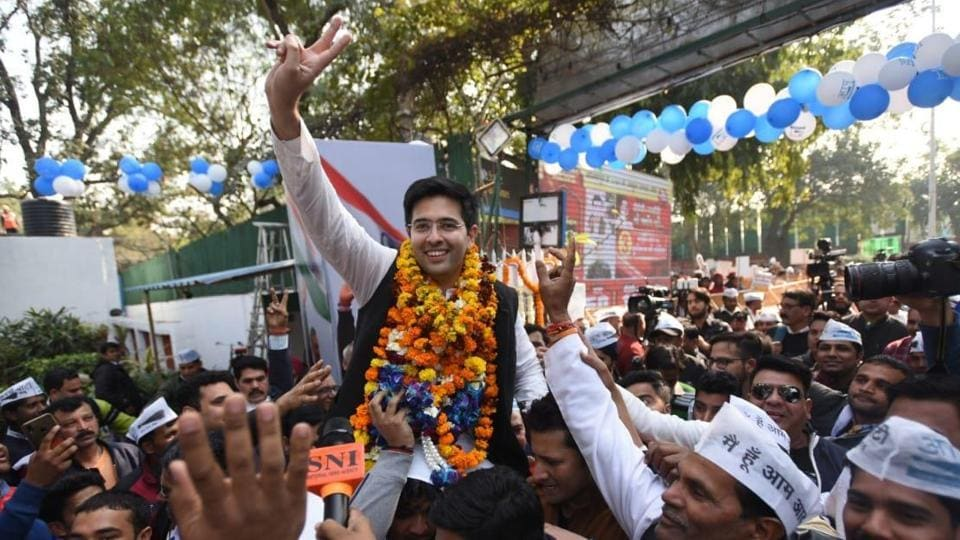 Raghav Chadha, a first time MLA, praised AAP chief Arvind Kejriwal for his work in the national capital, soon after his win.