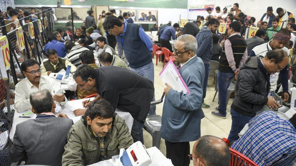 Officials engaged in counting of votes (representational image).
