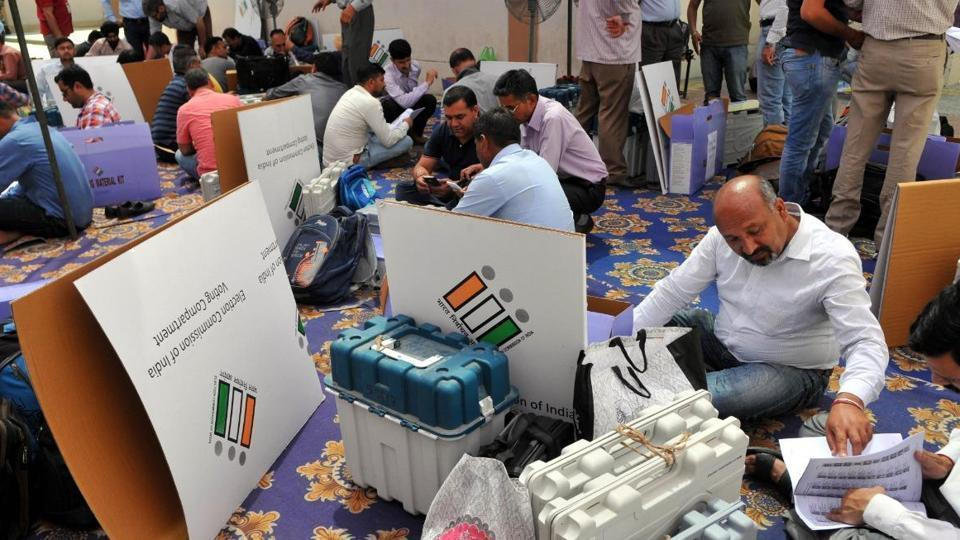 Counting of votes underway (representational image).