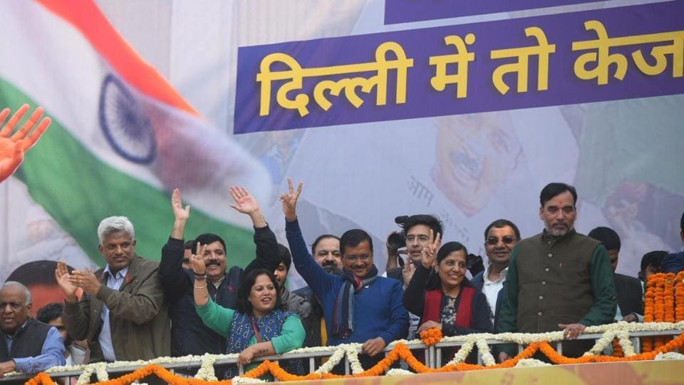 Kejriwal had made a pointed effort through the campaign not to respond to the BJP barbs but counter them, reminding people about the circumstances under which he had joined politics and the work that his government had done for the national capital.