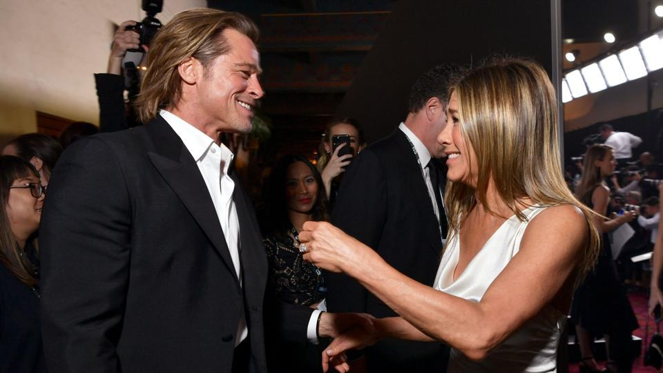 Brad Pitt and Jennifer Aniston attend the 26th Annual Screen ActorsGuild Awards at The Shrine Auditorium.