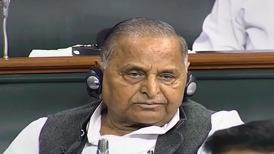 Samajwadi Party founder Mulayam Singh Yadav in the Lok Sabha during the ongoing session of Parliament, in New Delhi.