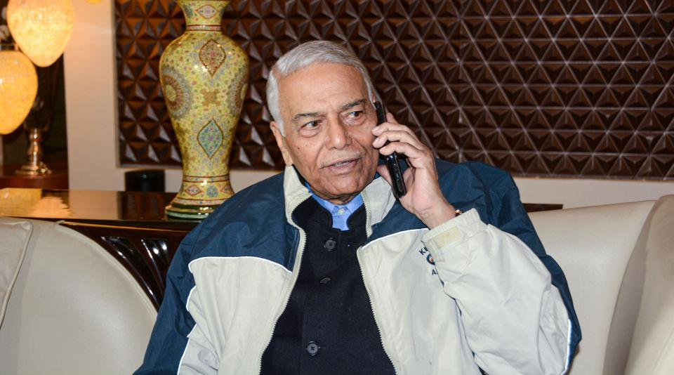 Yashwant Sinha took a jibe at the BJP after the party failed to cross double digits in results announced for polls held for Delhi  Assembly