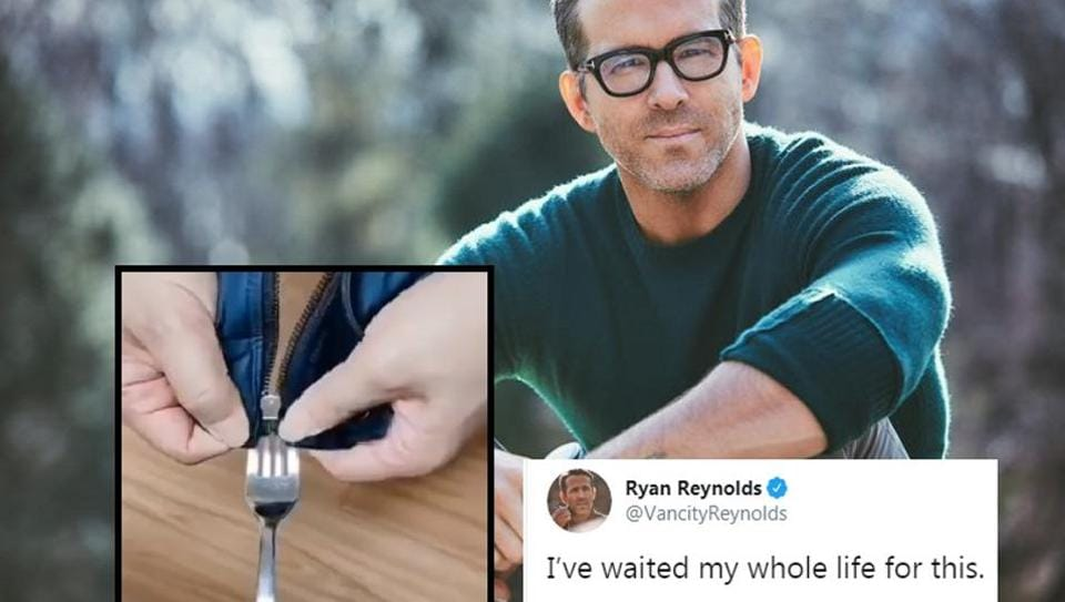 Ryan Reynolds came across the perfect hack to set the zipper back and shared it with his Twitter followers.