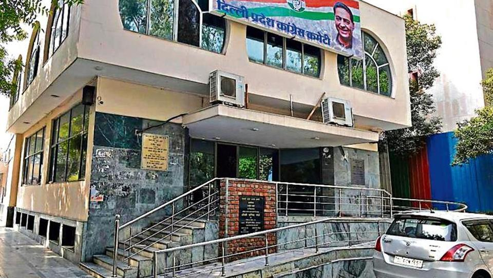 The Delhi Congress office at DDU Marg, New Delhi, wears a deserted look after the results of the Assembly elections were announced on Tuesday.