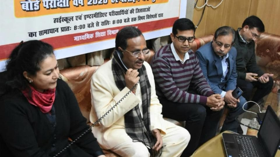Deputy chief minister Dinesh Sharma launched two toll free helpline number for UP Board students in Lucknow on Tuesday.