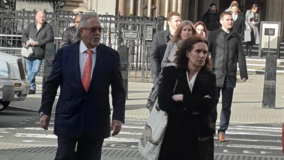 Indian businessman Vijay Mallya outside the  high court of England and Wales, Wednesday, Feb 12, 2020.