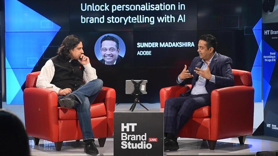 Sunder Madakshira of Adobe interacts with Rameet Arora of HT in Episode 13 of HT Brand Studio Live, Season 2.