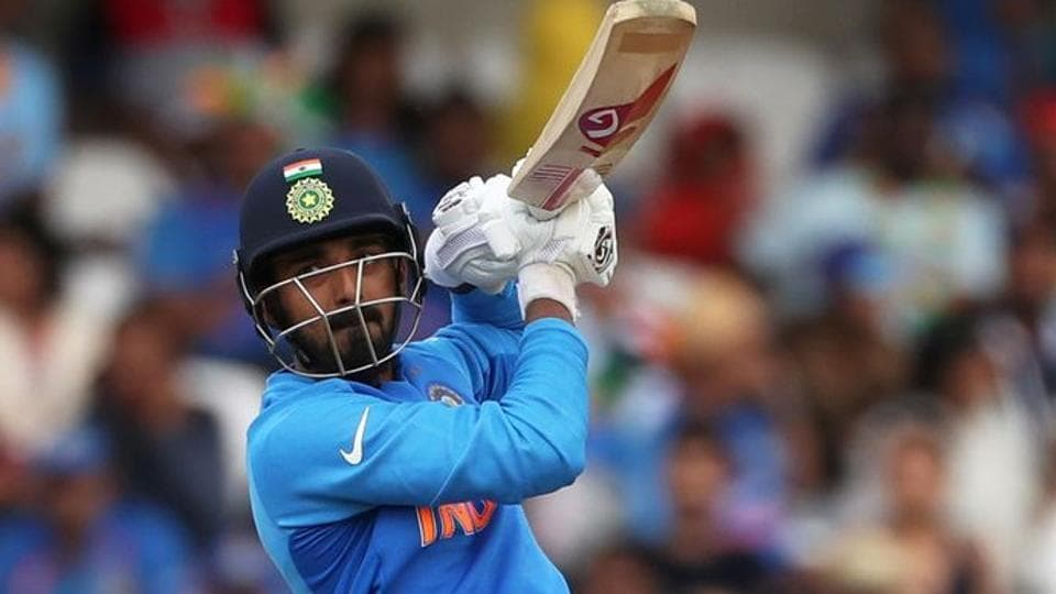 India's KL Rahul in action.