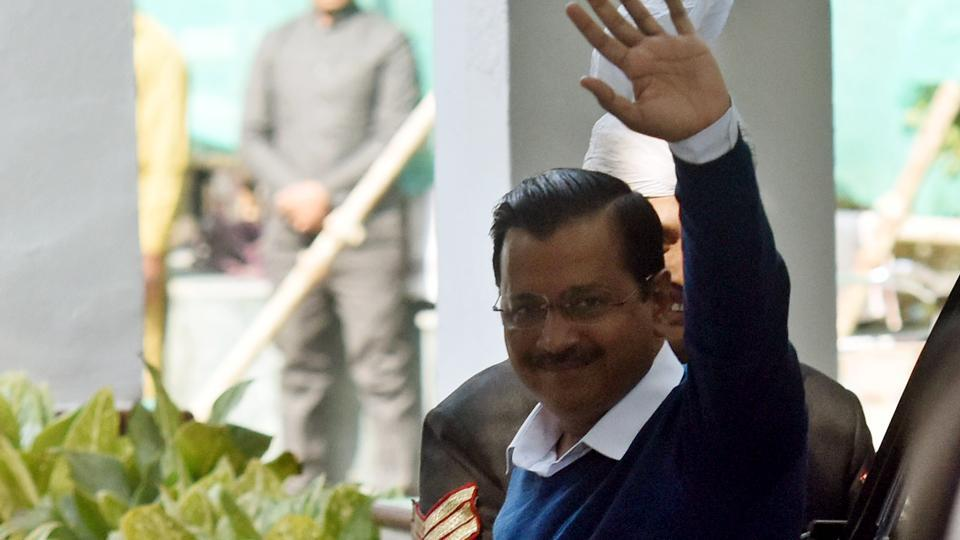 Chief Minister designate and AAP Chief Arvind Kejriwal arrvies for a meeting with Lieutenant Governor Anil Baijal at Raj Niwas in New Delhi on Wednesday, February 12, 2020.