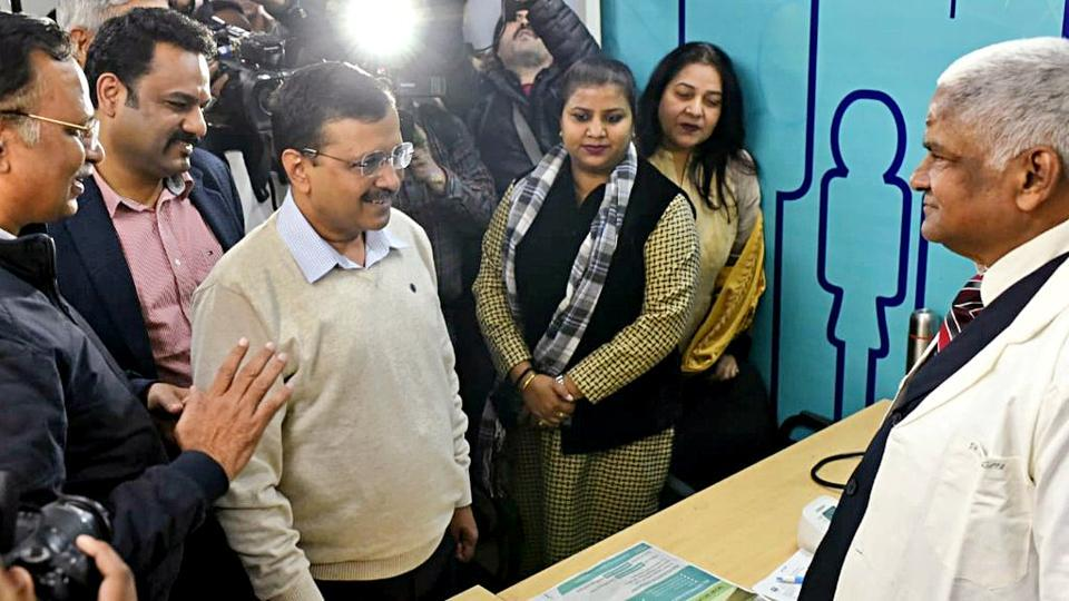 Delhi Chief Minister Arvind Kejriwal during the inauguration of Mohalla Clinic, in New Delhi in this file photo.
